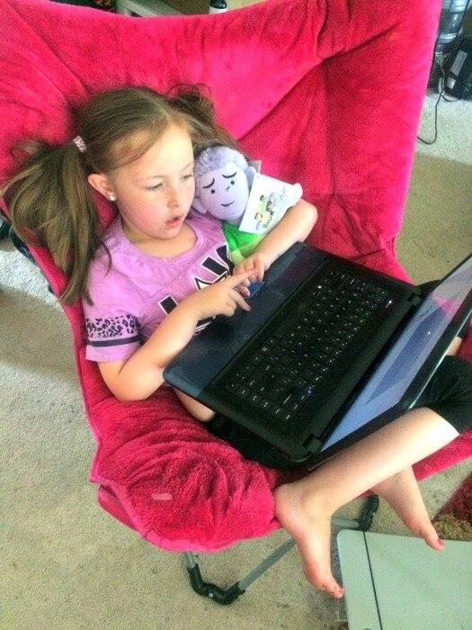 Kids love Widdle the Worrier