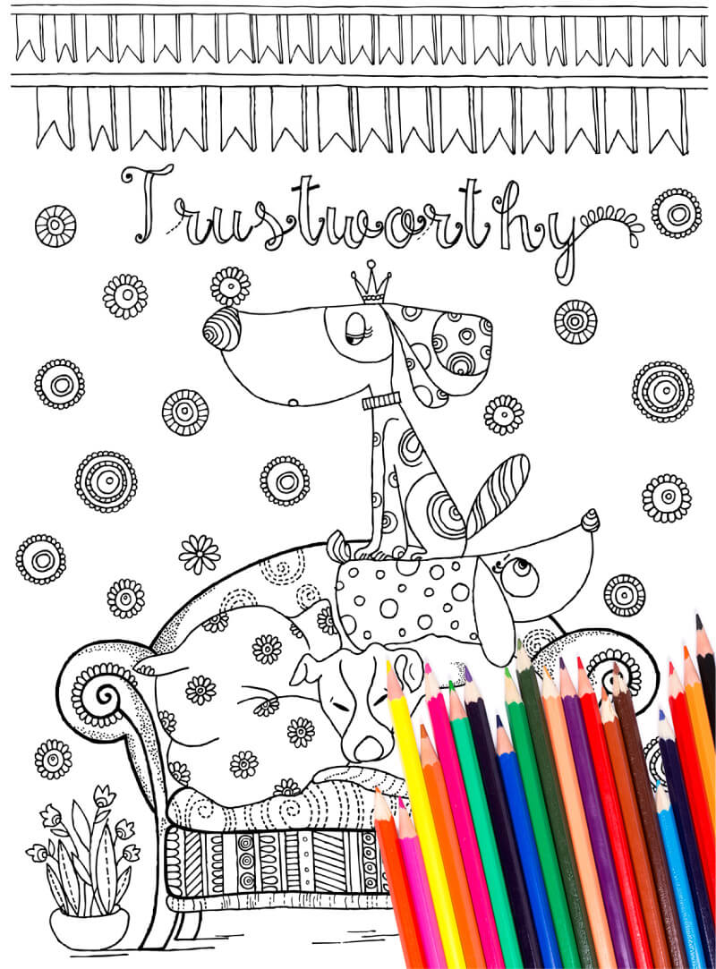 Illustrated Strengths 40 Coloring Pages Pdf Gozen